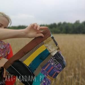 Ruda Klara komin etno boho patchworkowy ciepły - patchwork