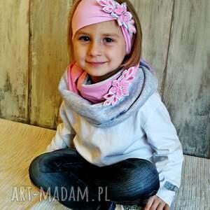 frapujące szalik komplet dla dziewczynki