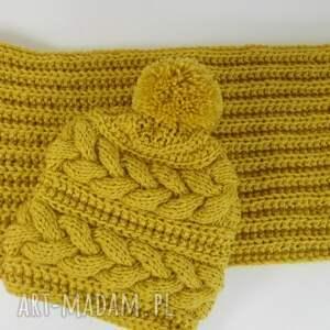 kominy czapka komplet yellow bahama