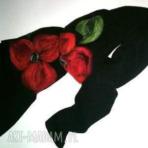niepowtarzalne kominy kwiaty szal otwarty szalik zamówienie