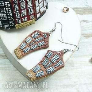 beżowe komplety fimo biżuteria amsteram