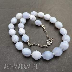 prezent na święta biżuteria chalcedon błękitny