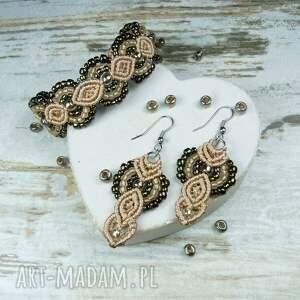 złote komplety biżuteria elegancki komplet biżuterii