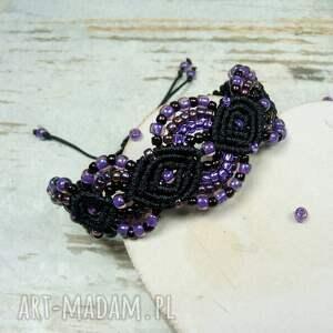 fioletowe komplety elegancki komplet biżuterii