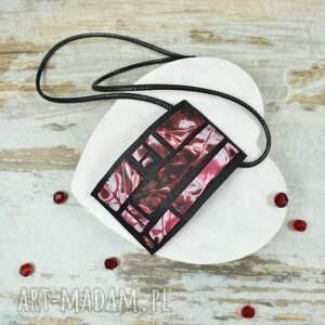 czarne komplety klasyczna-biżuteria geometria - komplet biżuterii