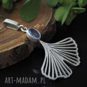 niebieskie komplet biżuterii ginkgo - miłorzęby