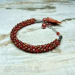 komplet biżuterii jesienne liście
