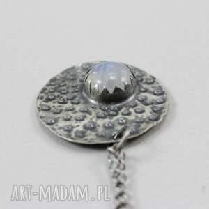 wisiorek kamień księżycowy i srebro