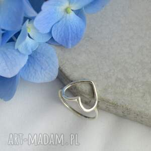awangardowe komplety pierścionek kolmpet biżuterii - serduszka