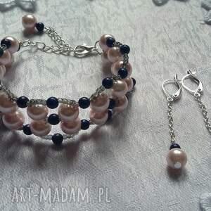 niebieskie komplet beading uroczy i elegancki biżuterii