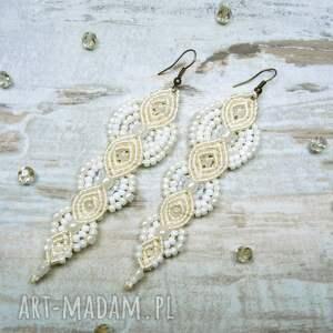 handmade komplety makrama komplet biżuterii ślubnej