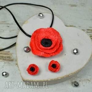 biżuteria maki komplet biżuterii czerwone