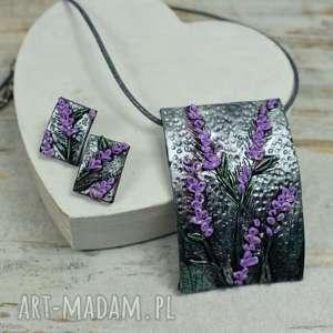 lawendowa-biżuteria komplety komplet bizuterii z motywem lawedy