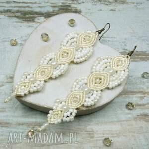 białe komplety ślub komplet biżuterii ślubnej