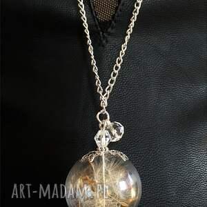 srebrne komplety dmuchawiec komplet biżuterii z nasionami