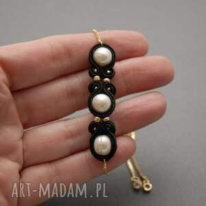 białe elegancki komplet biżuterii sutasz