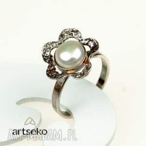 komplety srebrny-z-perłami komplet biżuterii srebrnej