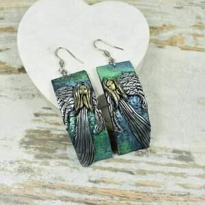 biżuteria-anioły komplety zielone komplet biżuterii anioł