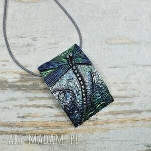 biżuteria-ważka komplety zielone komplet biżuterii z ważką