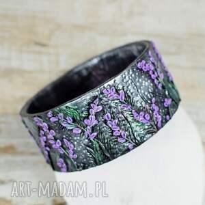 komplet-biżuterii komplety fioletowe komplet bizuterii z motywem lawedy