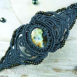 makrama komplety komplet biżuterii z labradorytem