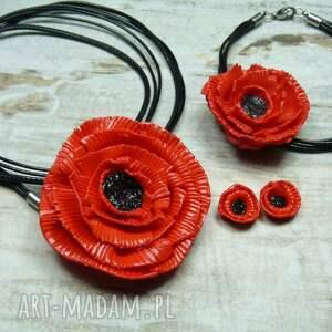 komplety maki komplet biżuterii czerwone