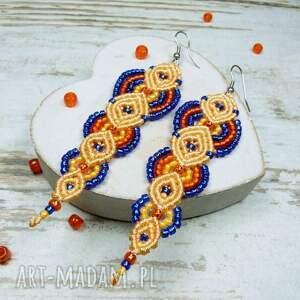 hand-made komplety makrama komplet biżuterii z koralików