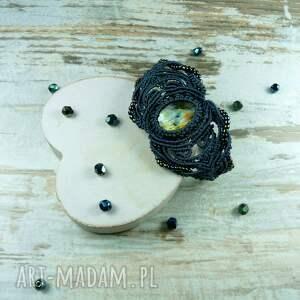 komplety makrama komplet biżuterii z labradorytem
