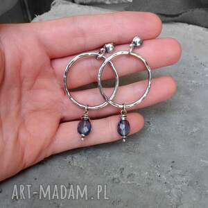nowoczesny komplet biżuterii - srebro i kwarc