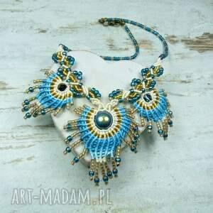 niebieskie komplety pióro komplet biżuterii pawie