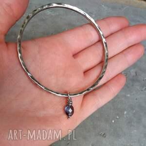niebieskie nowoczesny komplet biżuterii - srebro i kwarc