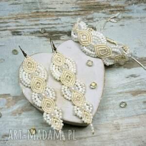 handmade komplety ślub komplet biżuterii ślubnej