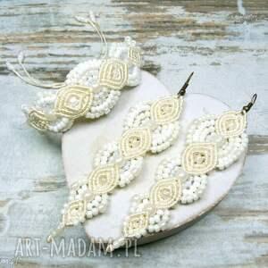 makrama komplety komplet biżuterii ślubnej