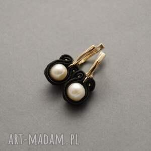 sznurek czarne komplet biżuterii sutasz