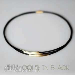 nowoczesny komplet gold in black