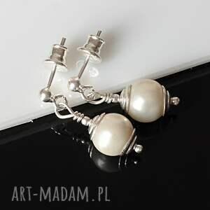 trendy komplety srebro larvikit w perłach