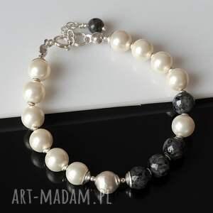 szare komplety larvikit w perłach