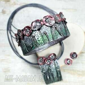 biżuteria maki czerwone letnia łąka - oryginalny komplet