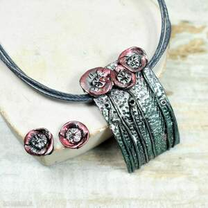 oryginalna biżuteria letnia łąka - oryginalny komplet