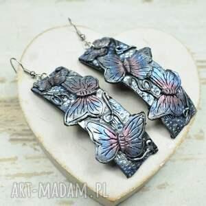 różowe komplety biżuteria-motyle motyle - komplet biżuterii