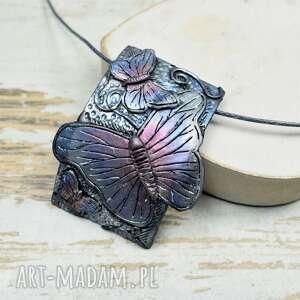 motyle komplety turkusowe - komplet biżuterii