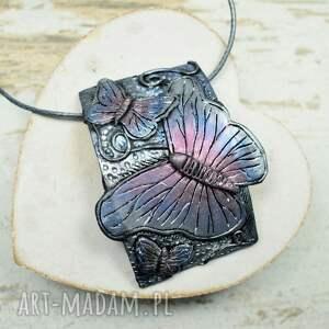 komplety długie-kolczyki motyle - komplet biżuterii