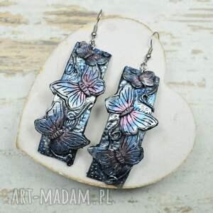 długie-kolczyki komplety motyle - komplet biżuterii