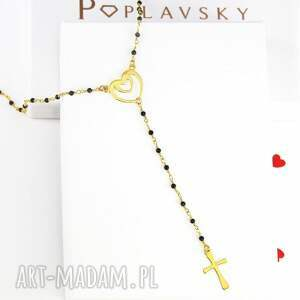 atrakcyjne komplety naszyjnik komplet różaniec krzyż