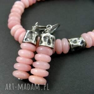 komplety opal różowy