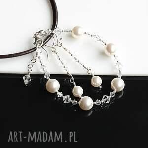 atrakcyjne perły swarovskiego - komplet