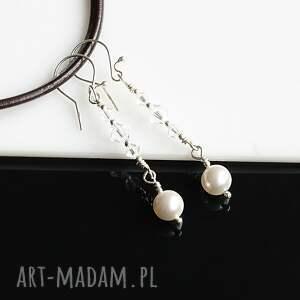 atrakcyjne kryształy perły swarovskiego - komplet