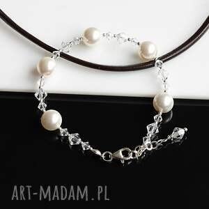 kryształy perły swarovskiego - komplet