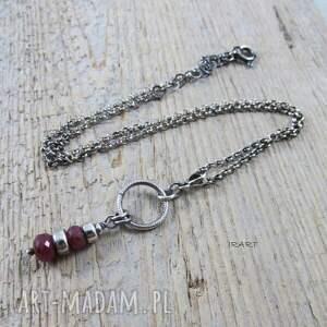 intrygujące komplety bransoletka rubin - kobieco (komplet)