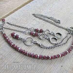 intrygujące komplety srebro rubin - kobieco (komplet)